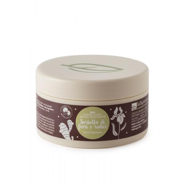 La Saponaria Moisturizing Body Cream Iris and Ginger organic
