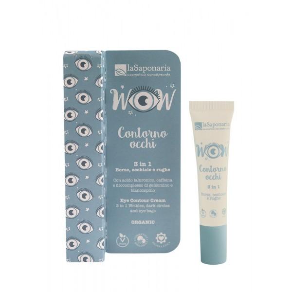 La Saponaria Eye contour Cream Oogcreme 3 in 1 wrinkles