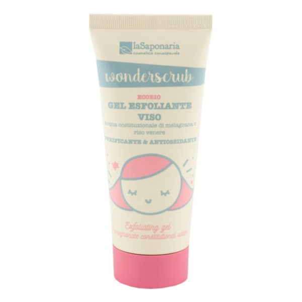 La Saponaria Wonderscrub - Exfoliating face gel