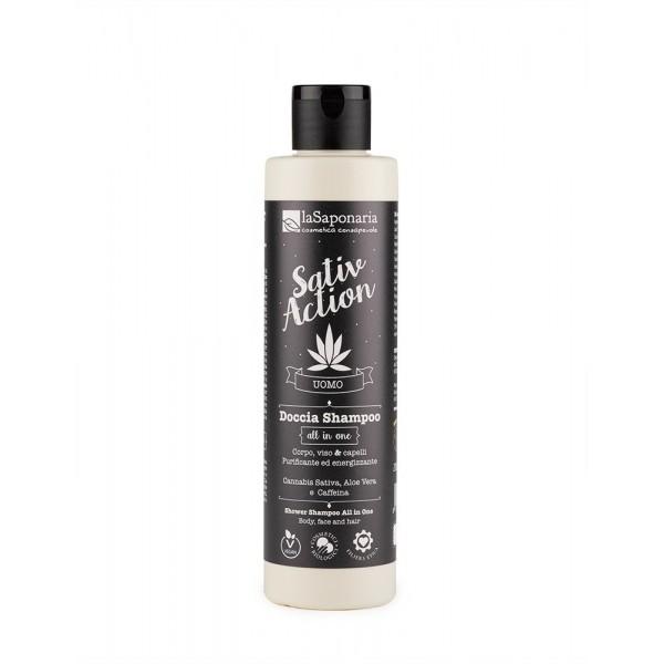 La Saponaria ALL-IN-ONE Shower Shampoo SativAction, organic