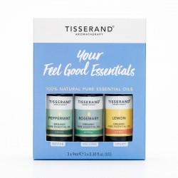 Tisserand Your Feel Good Essentials, Essential Oil Kit Trio, Organic